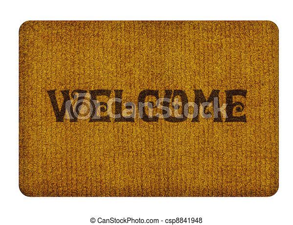 Bienvenidos limpiando alfombras - csp8841948