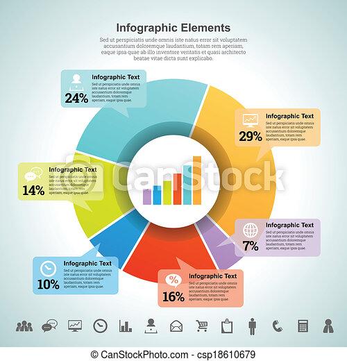 Pie Percentage Infographic Element - csp18610679