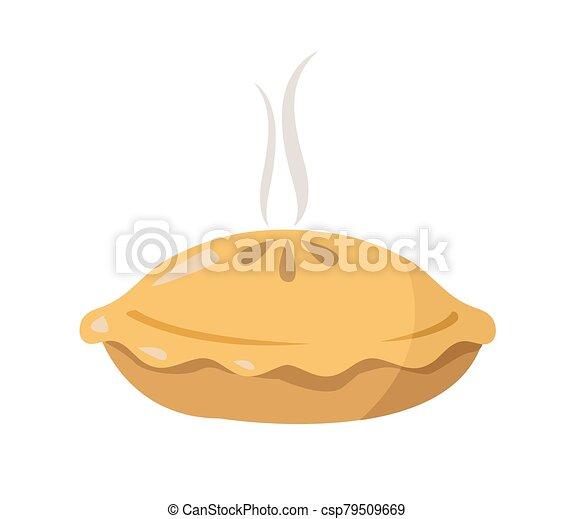 pie vector illustration on white background - csp79509669