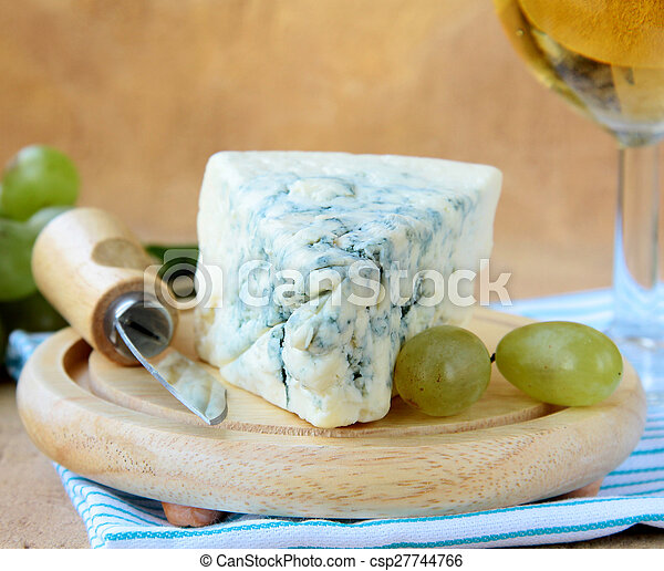 piece of blue cheese - csp27744766