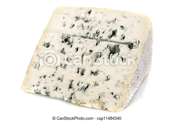 Piece of blue cheese - csp11484340