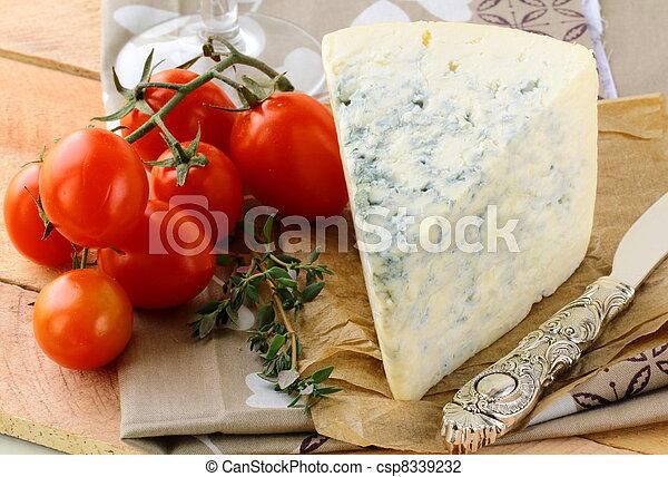 piece of blue cheese, tomato - csp8339232