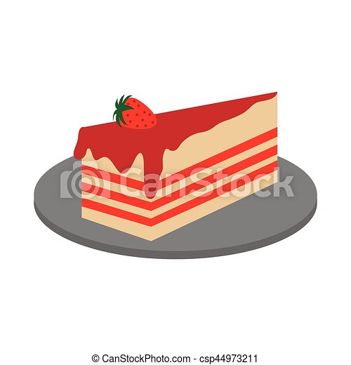 piece of cake icon piece of cake over white background vector rh canstockphoto co uk piece of cake free clipart piece of cake free clipart