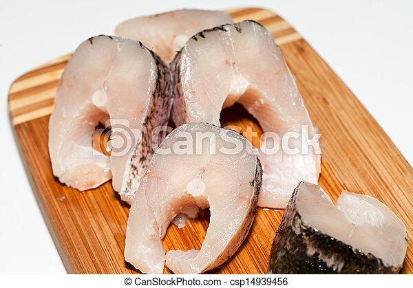 Piece of fresh raw fish. - csp14939456