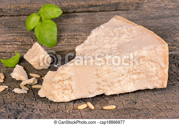 Piece of parmesan cheese - csp18866977
