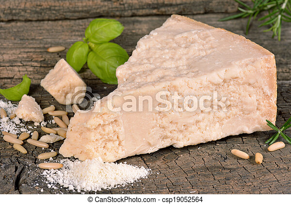 Piece of parmesan cheese - csp19052564