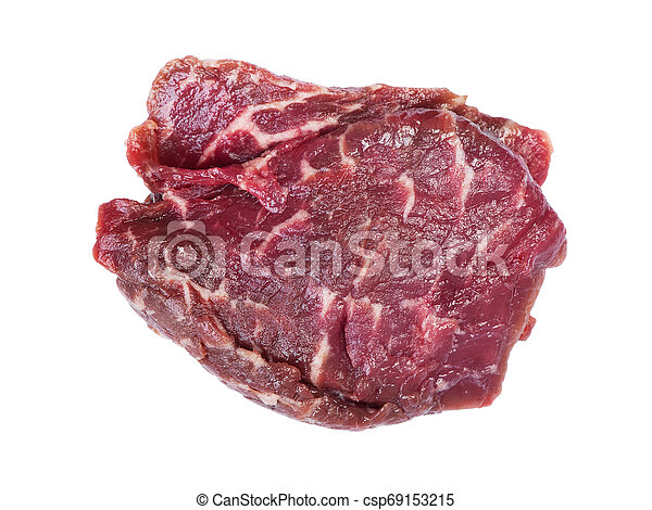 Piece of raw beef meat - csp69153215