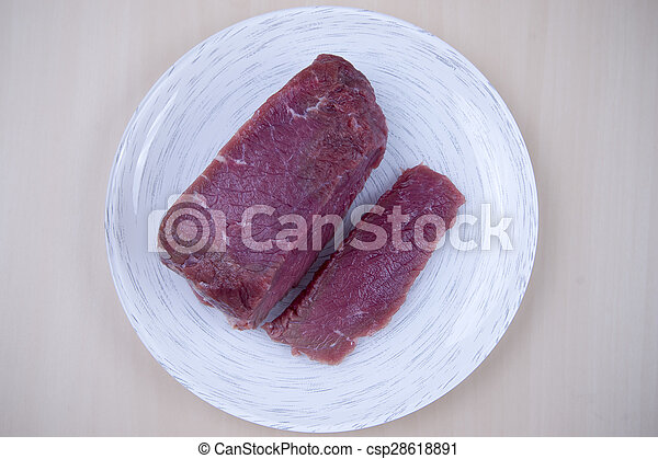 Piece of raw beef - csp28618891