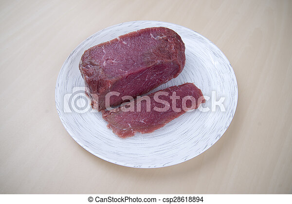Piece of raw beef - csp28618894