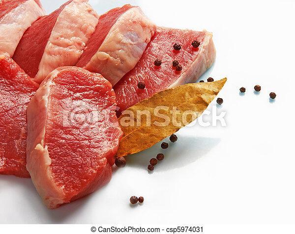 Piece of raw fresh meat - csp5974031