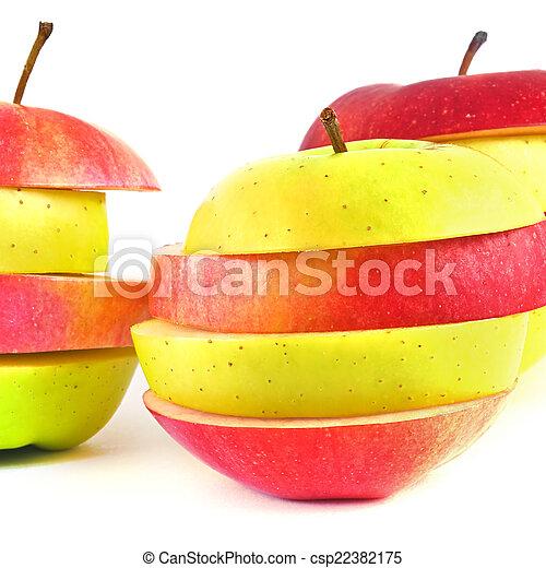 Pieces of apple. - csp22382175
