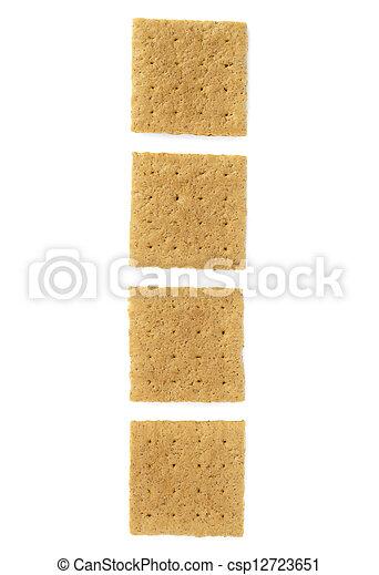 pieces of crackers - csp12723651