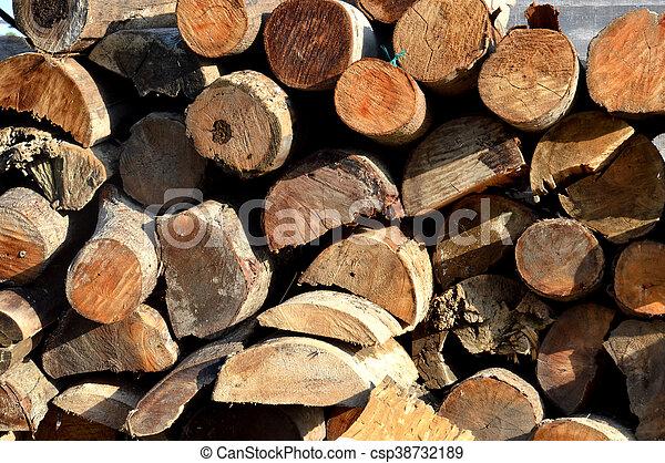 pieces of firewood - csp38732189