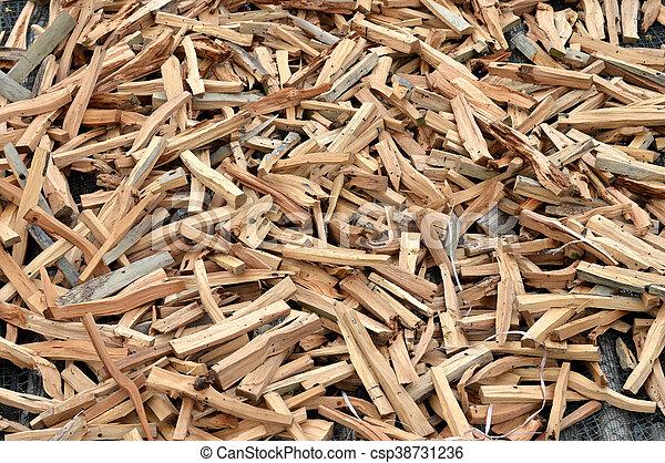 pieces of firewood - csp38731236