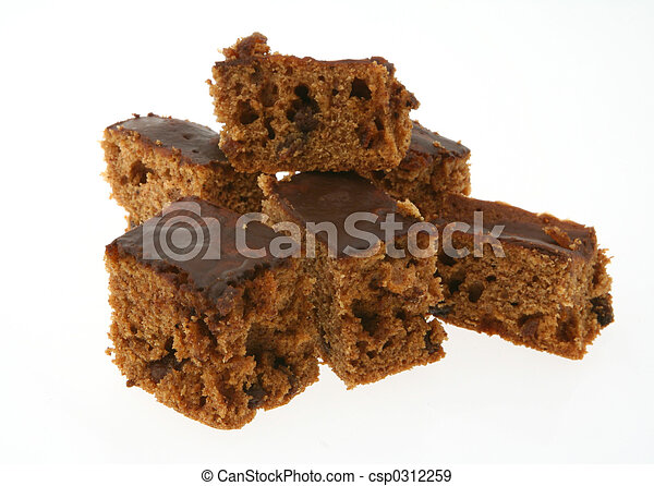 pieces of ginger cak - csp0312259