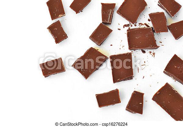 pieces of milk chocolate - csp16276224