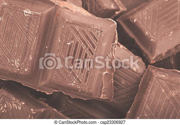 Pieces of milk chocolate - csp23306927