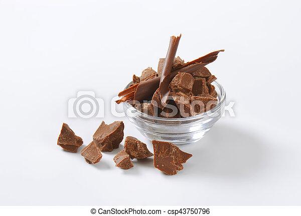 pieces of milk chocolate - csp43750796