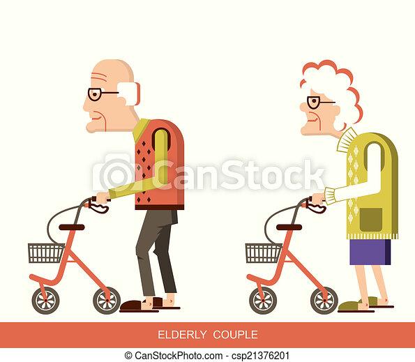 piechurzy, starsze ludzie - csp21376201