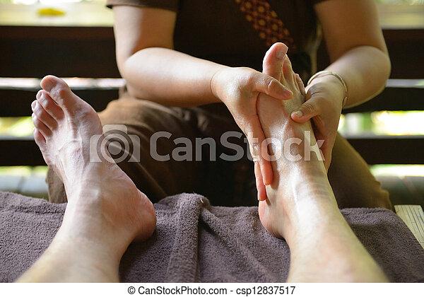 pied, spa, thaï, masage - csp12837517