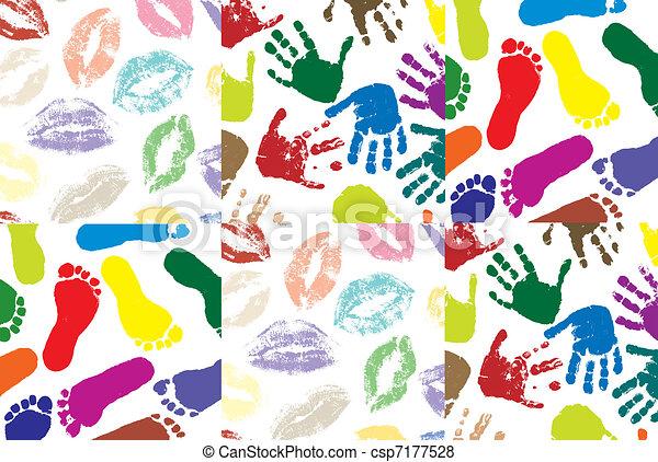 Piedi colorare dipinto labbra mani labbra colore for Piani di studio 300 piedi quadrati