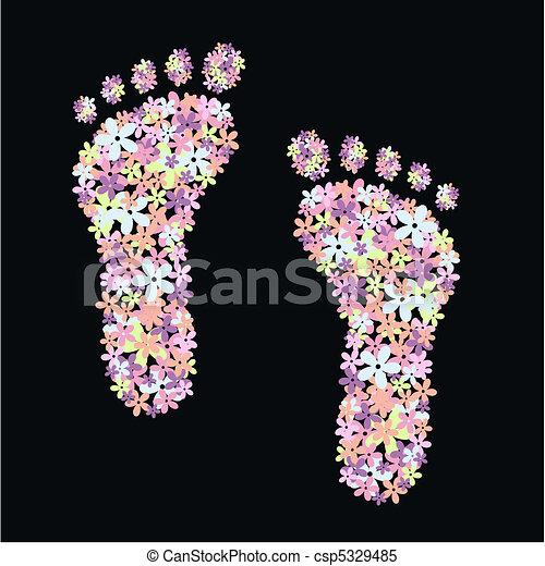 piedi, fiore - csp5329485