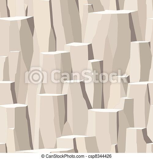 La superficie del precipicio, la roca pelada piedra áspera sin costura - csp8344426