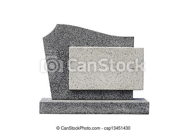 Una sola tumba cortada - csp13451430