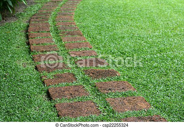 Piedra formado jardn losas camino