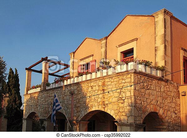 Piedra País Techo Terraza Casa Greece Crete