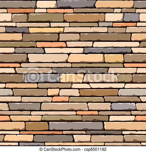 La pared de piedra. Patrón sin sentido. - csp6501192