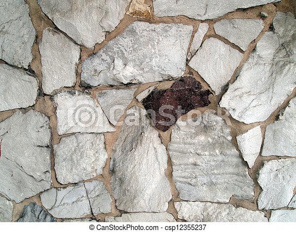 El fondo de la pared de piedra - csp12355237
