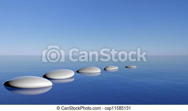 piedras azul zen agua ilustracin de archivo - Piedras Zen