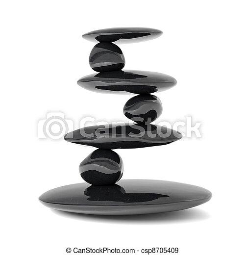 El concepto de equilibrio de las piedras zen - csp8705409