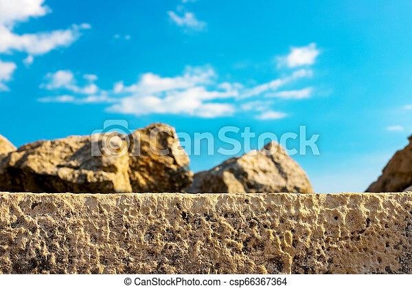 Piedras Impresión Piedra Image Elasticidad Cielo Azul Pared Contra Foco Pequeño Plano De Fondo Desert Afuera
