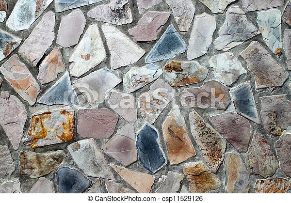Una pared de masones con piedras irregulares - csp11529126
