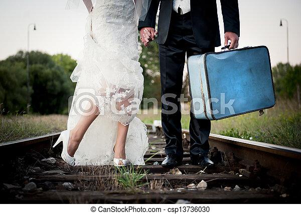 pieds, mariage - csp13736030