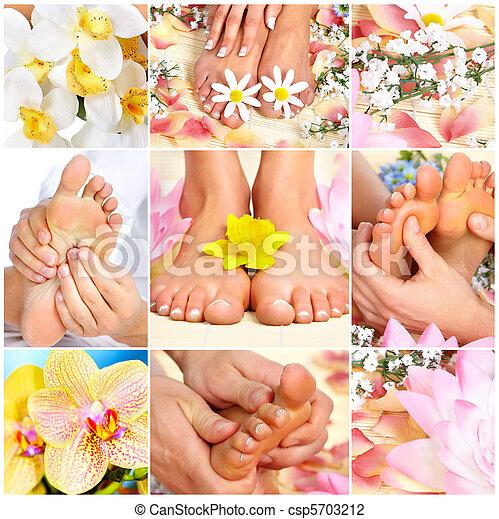 pieds, masage - csp5703212