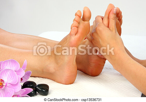 pieds, masage - csp13536731