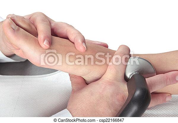 pieds, muscles, thérapie, masage, délassant - csp22166847