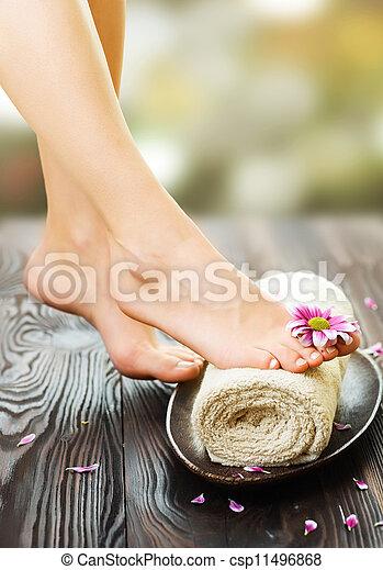 pieds, spa - csp11496868