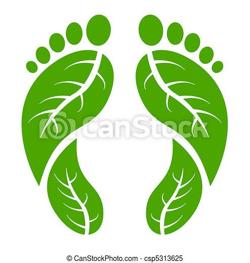 pieds, vert - csp5313625