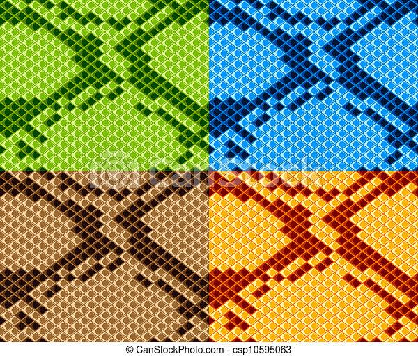 Piel de serpiente Vector sin papel pintado - csp10595063