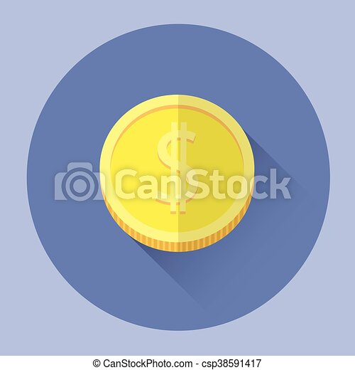 pieniądz, barwny, ikona - csp38591417