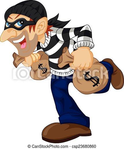 pieniądze, transport, złodziej, torba - csp23680860