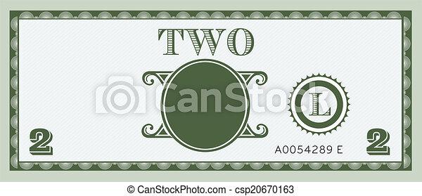 pieniądze, wizerunek, halabarda, dwa - csp20670163