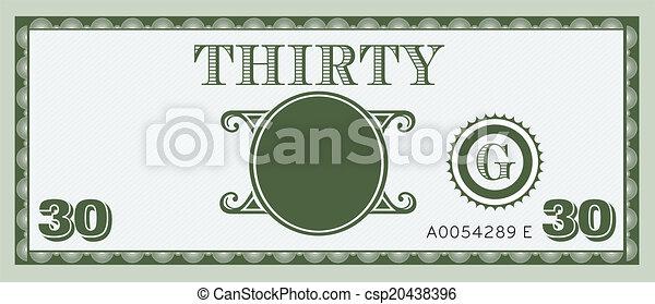pieniądze, wizerunek, halabarda, trzydzieści, logo - csp20438396