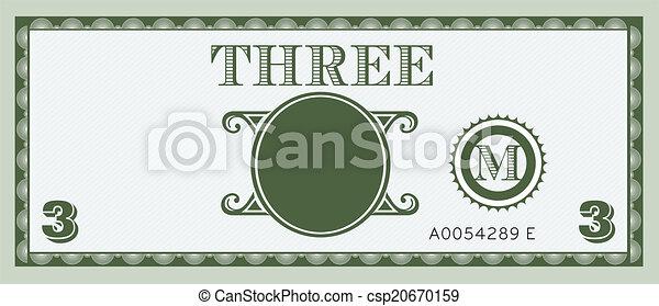 pieniądze, wizerunek, halabarda, trzy - csp20670159