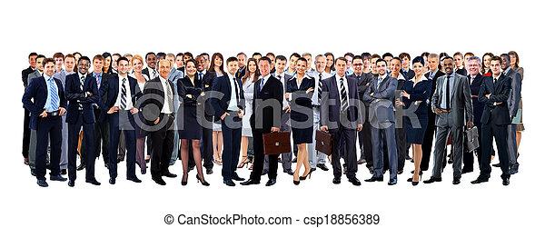 pieno, gruppo, persone, isolato, grande, lunghezza, bianco - csp18856389