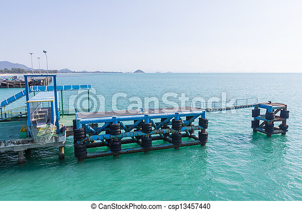 Pier fishing - csp13457440
